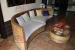 Богатство от изпълнения на мебел от естествен ратан за лобита и хотели по поръчка