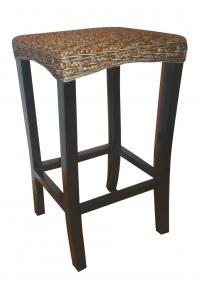 Бар стол ратан и дърво